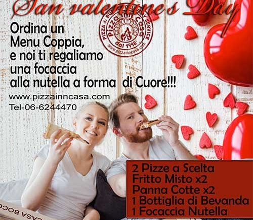 Menu San Valentine's Day