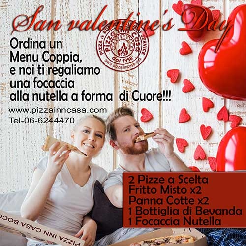 Pizza inn Casa San Valentine's Day Menu